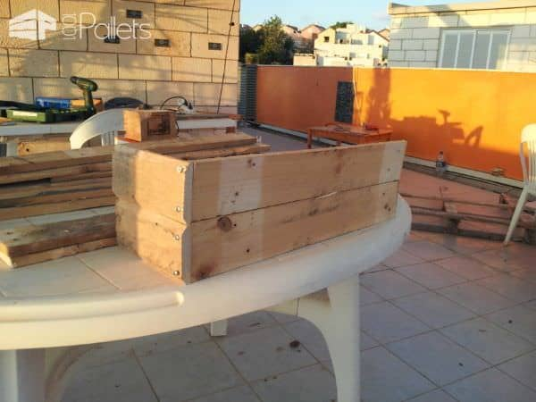 Wooden Pallet Cover For Old Planters Pallet Planters & Compost Bins