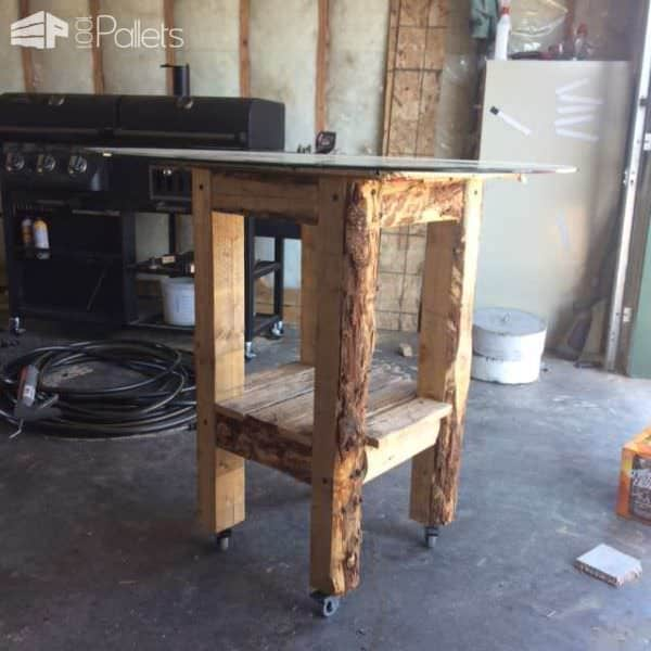 Bar Table Made Out Of Recycled Pallets Pallet Bars Pallet Desks & Pallet Tables