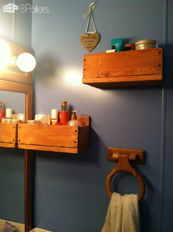 Bathroom Pallet Shelves Pallet Shelves & Pallet Coat Hangers