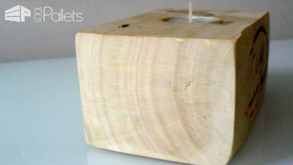 Bougeoirs En Dés De Palette / Candle Holder From Pallet Blocks Pallet Candle Holders