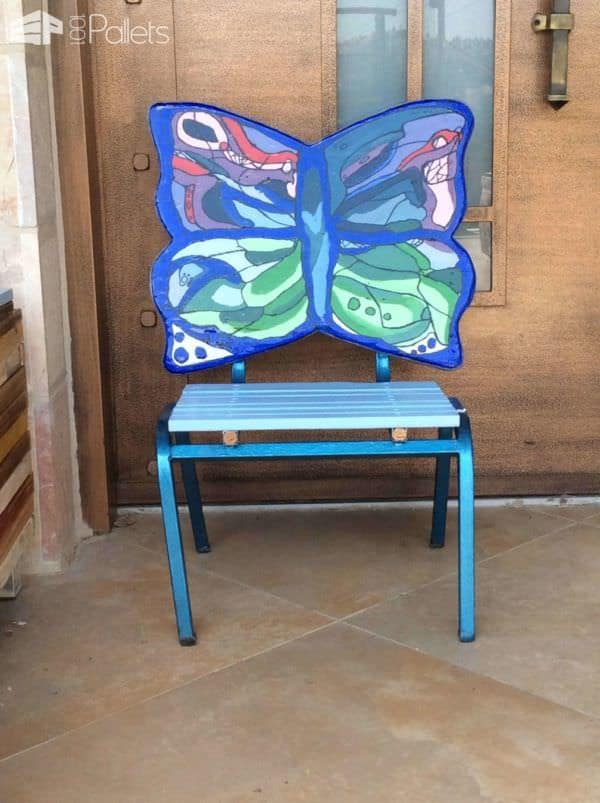 Butterfly Pallet Chair Pallet Benches, Pallet Chairs & Stools