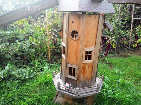 Homemade Garden Windmill From Wooden Pallets Pallet Planters & Compost Bins