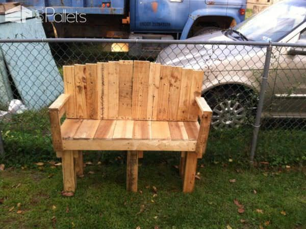 Yard Pallet Love Seat Lounges & Garden Sets Pallet Benches, Pallet Chairs & Stools