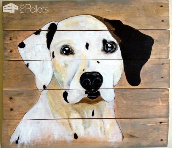 Aragon, Painting On Pallet Wood Pallet Wall Decor & Pallet Painting