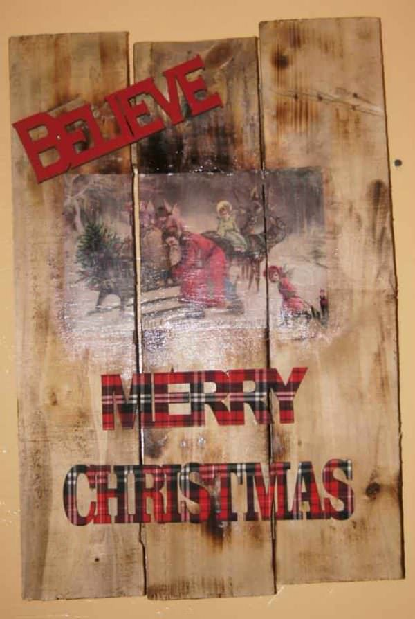 Christmas Wall Art With Pallet Pallet Wall Decor & Pallet Painting
