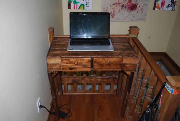 Console Pour Pc Portable / Pallet Computer Desk Pallet Desks & Pallet Tables