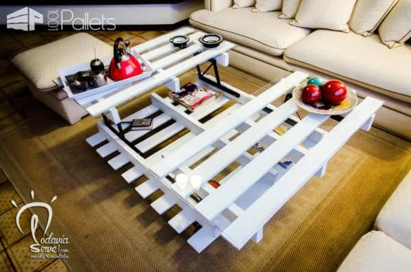 Pallet Center Lifting Table Pallet Coffee Tables