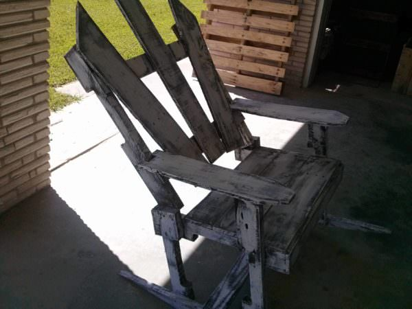 Antique Pallet Rocking Chair Pallet Benches, Pallet Chairs & Stools