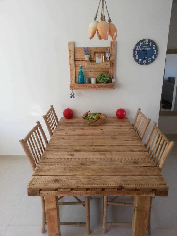 Pallet Table & Shelf Pallet Desks & Pallet Tables