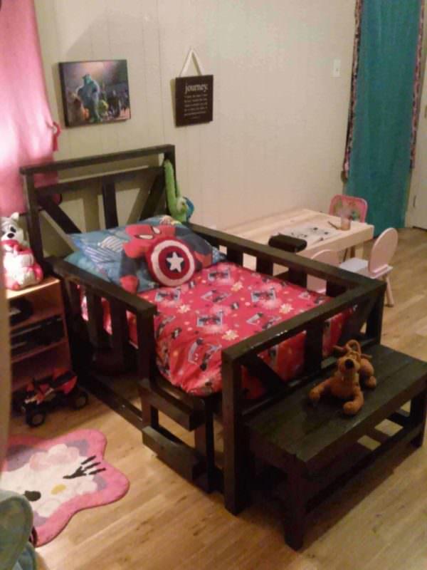 Pallet Toddler Bed Pallet Beds, Pallet Headboards & Frames