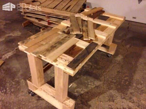Pallet Workspace/Desk Pallet Desks & Pallet Tables