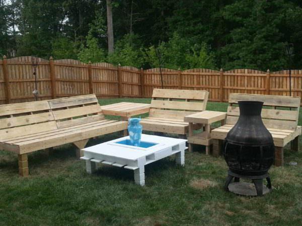 Pallets Garden Lounge Lounges & Garden Sets