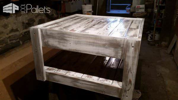 Reclaimed Formica Coffee Table With Pallet Wood Pallet Coffee Tables