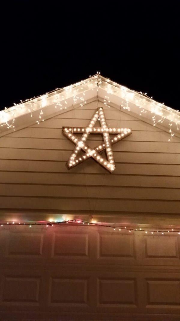 Starlight Star Bright First Pallet Star I See Tonight! Pallet Lamps & Lights