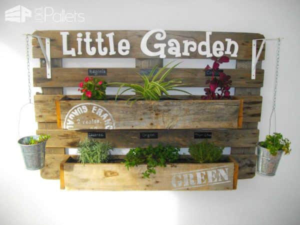 Jardinière En Palette / Pallet Wall Planter Pallet Planters & Compost Bins