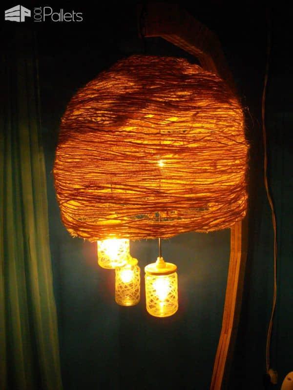 Luminaire Sur Pied / Pallet Floor Lamp Pallet Lamps & Lights