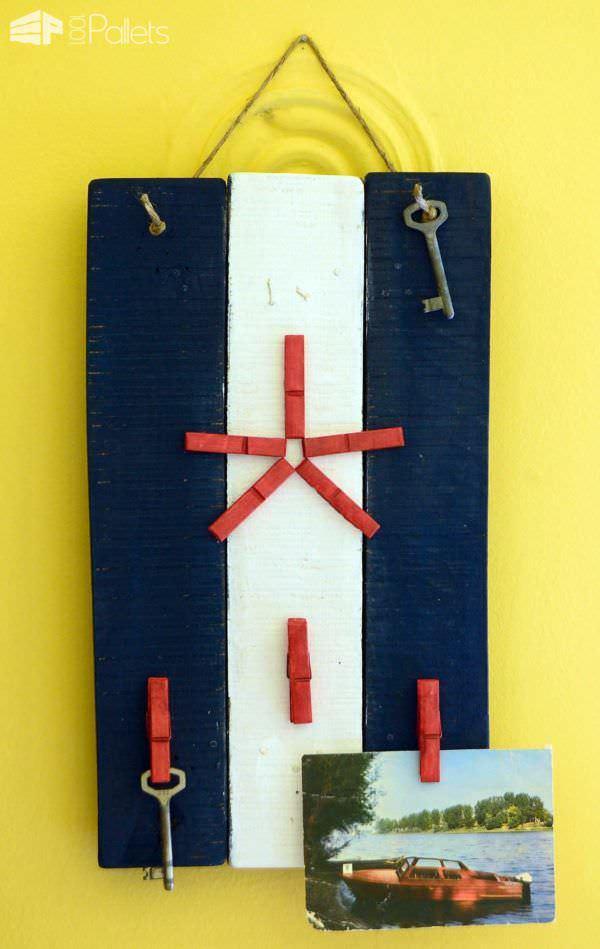 Pallet Key Rack Pallet Shelves & Pallet Coat Hangers