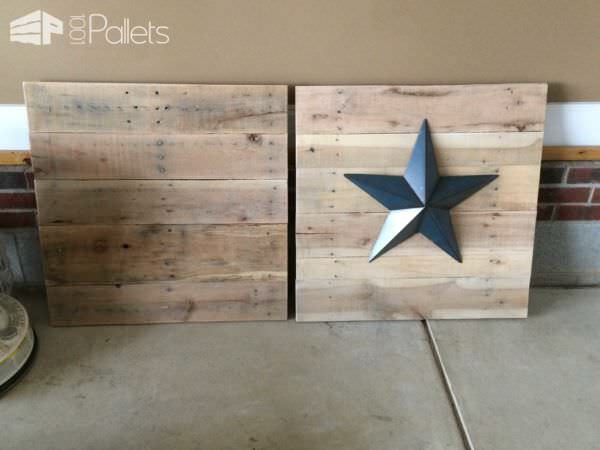 Pallet Wall Star Pallet Wall Decor & Pallet Painting