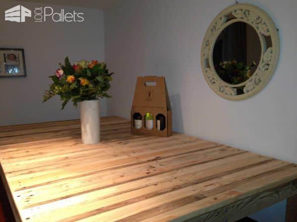"""Table Haute """"mange Debout"""" / Kitchen High Pallet Table Pallet Desks & Pallet Tables"""