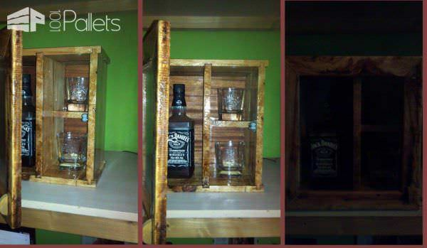 Whiskey Rack from Pallet Wood Pallet Boxes & Chests