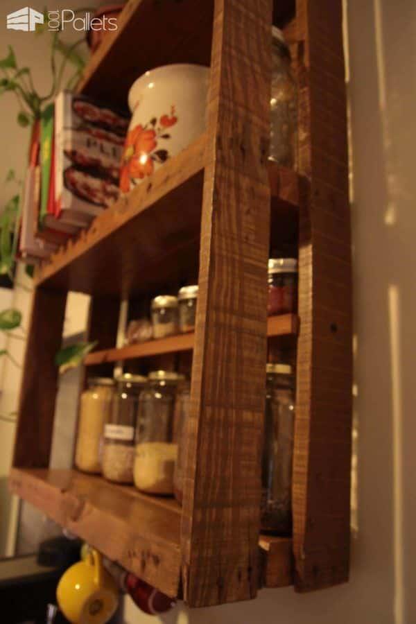 Étagère De Cuisine En Palette / Kitchen Pallet Shelf Pallet Shelves & Pallet Coat Hangers