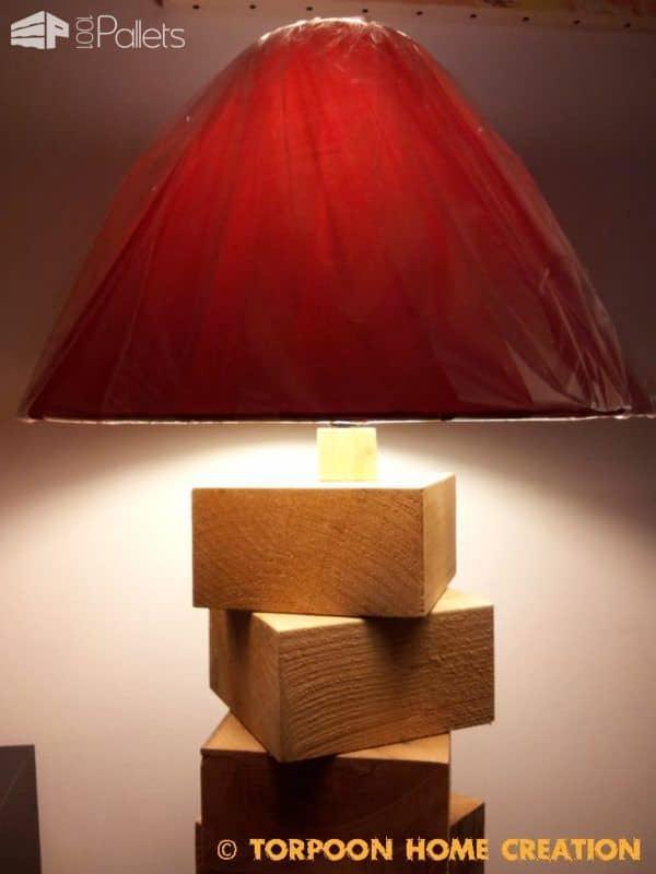 Lampe En Cubes De Palettes / Pallet Blocks Lamp Pallet Lamps & Lights