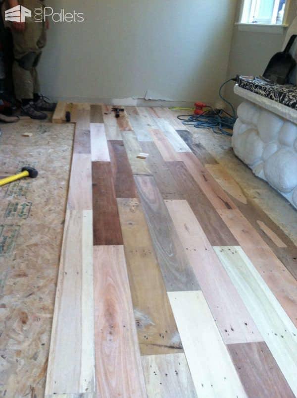 Repurposed Pallet Wood Floor Pallet Floors & Decks