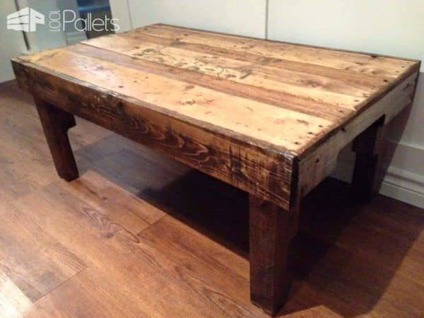 Coffee Table From Upcycled Pallets Pallet Coffee Tables