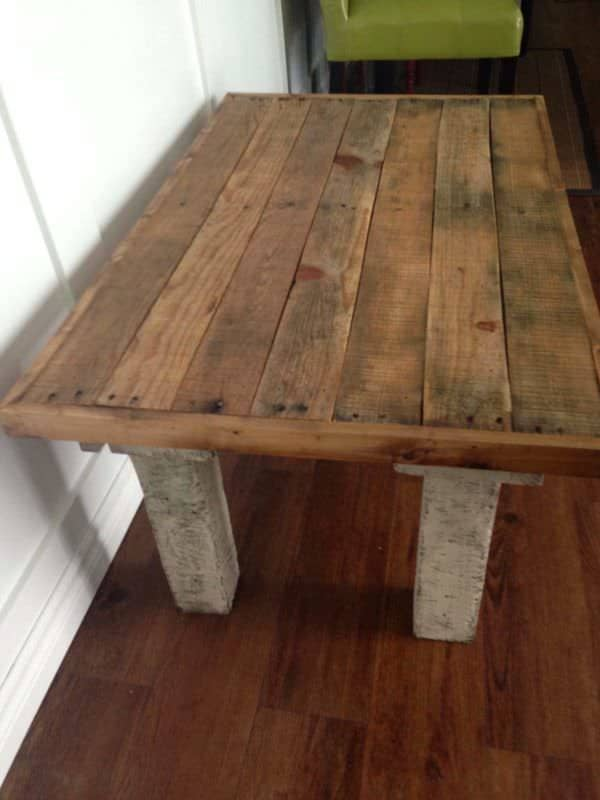 Coffee Table Made From Repurposed Pallets Pallet Coffee Tables