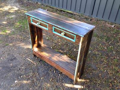 How to Build a Hall Table From Recycled Pallets DIY Pallet Video Tutorials Pallet Desks & Pallet Tables
