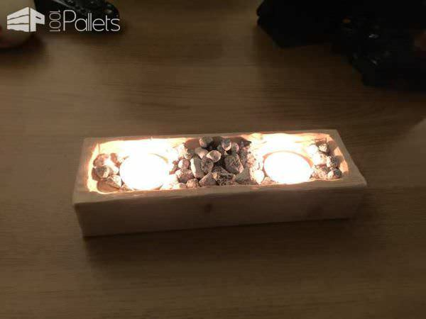 Multi Use Of Pallet Cubes Pallet Boxes & Chests Pallet Candle Holders