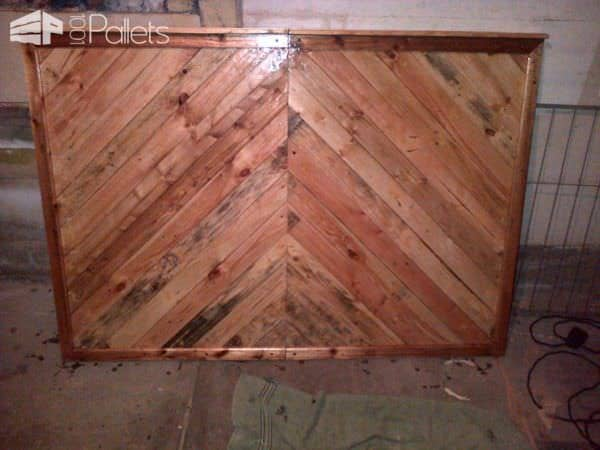 Pallet Bed Headboard Made From Upcycled Pallets & Packaging Crates Pallet Beds, Pallet Headboards & Frames