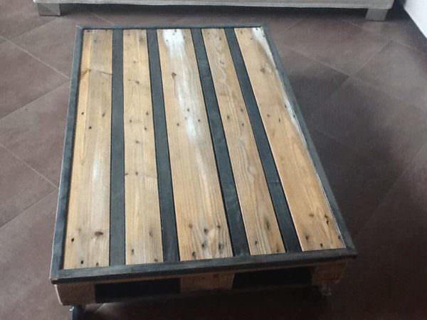 Table Basse Palette & Metal / Pallet & Metal Coffee Table Pallet Coffee Tables