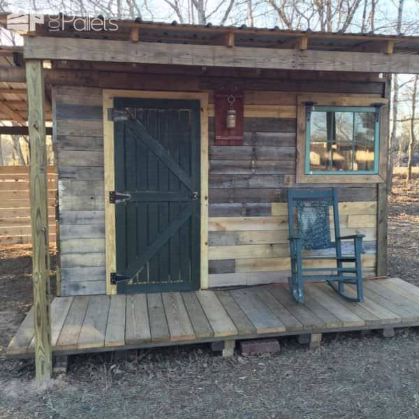 Tiny Off Grid Cabin Made from Pallets & Reclaimed Lumber Pallet Sheds, Cabins, Huts & Playhouses