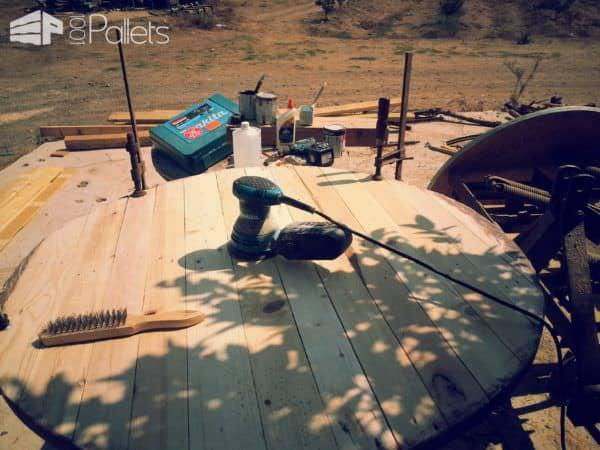 A Rewound Pallet Table Pallet Desks & Pallet Tables