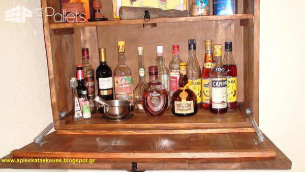 Bar Cabinet From Pallet Wood Pallet Cabinets & Wardrobes