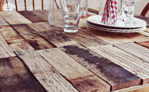 Diy: Upcycled Pallet Into Rustic Kitchen Table Pallet Desks & Pallet Tables