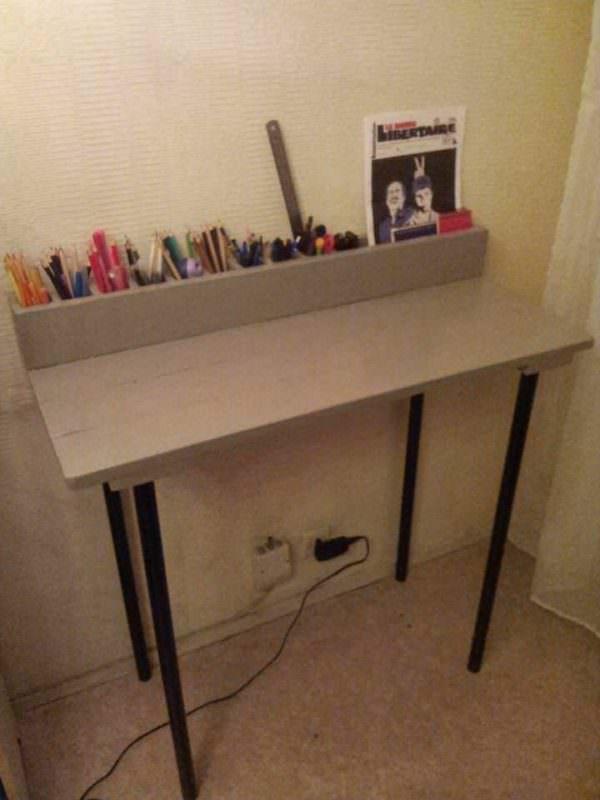 Meuble Ordinateur Portable En Palette / Pallet Laptop Desk Pallet Desks & Pallet Tables