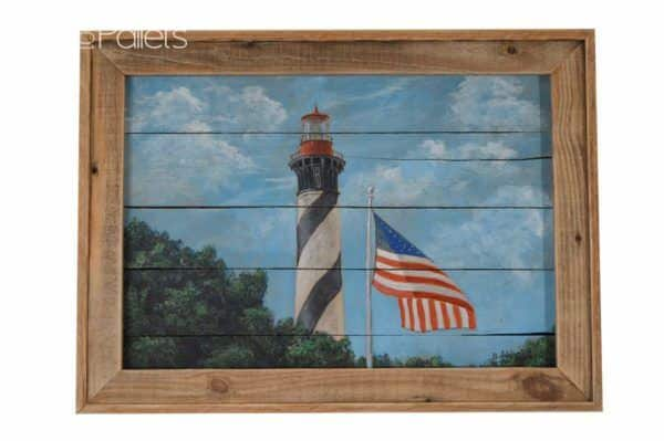 Original Fine Art by Bobby Casler on Reclaimed Pallet Wood Pallet Wall Decor & Pallet Painting