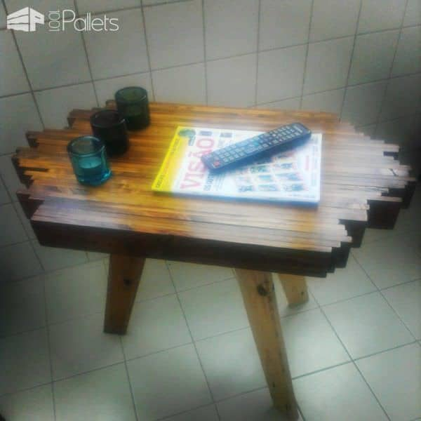 Pallet Sofa Side Table Pallet Desks & Pallet Tables