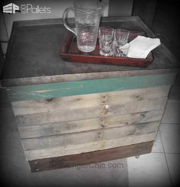 Rolling Storage Bin or Serving Cart Pallet Boxes & Chests