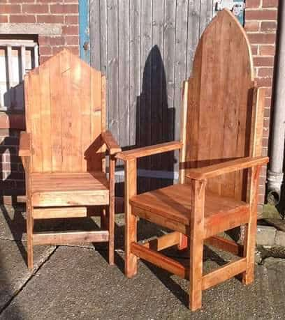 Thrones from Throne Together Pallet Benches, Pallet Chairs & Stools