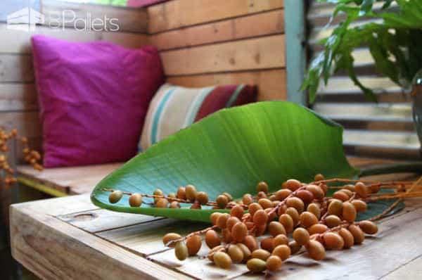 Tropical Pallet Paradise: A Renters' Remodel Story Pallet Terraces & Pallet Patios