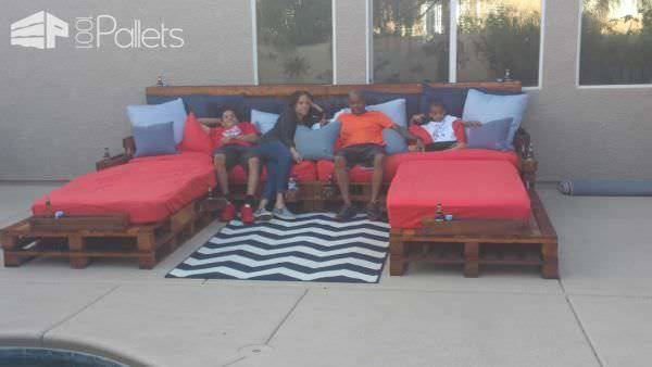 Outdoor Pallet Daybed Lounges & Garden Sets Pallet Beds, Pallet Headboards & Frames