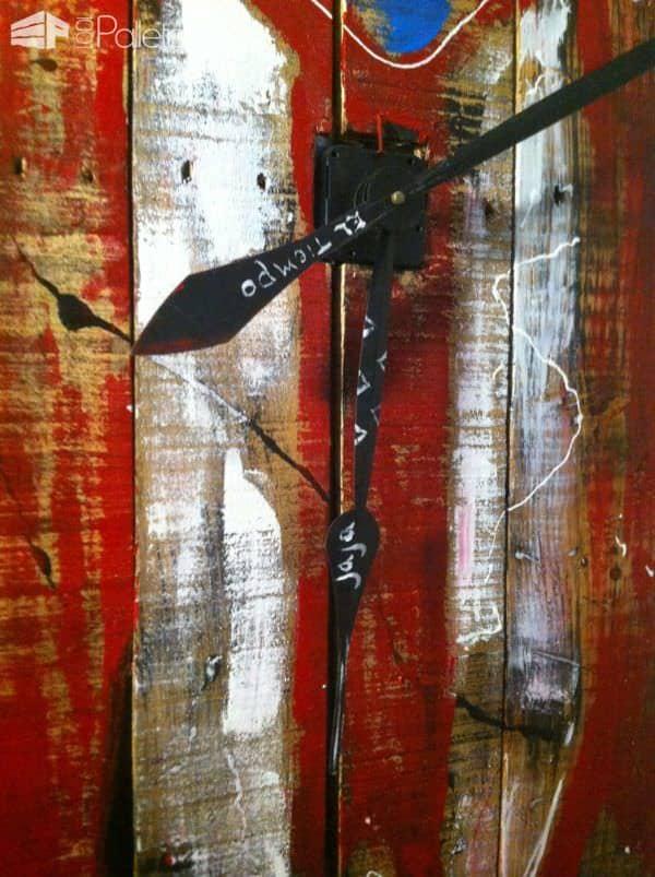 Relog De Pared / Pallet Wall Clock Pallet Clocks