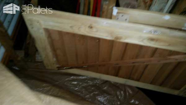 Shed Dutch-doors From Recycled Pallets & 1920's Redwood Pallet Walls & Pallet Doors