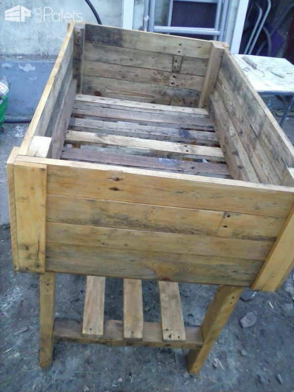 Table Potagère En Palette / Pallet Vegetable Table Pallet Planters & Compost Bins