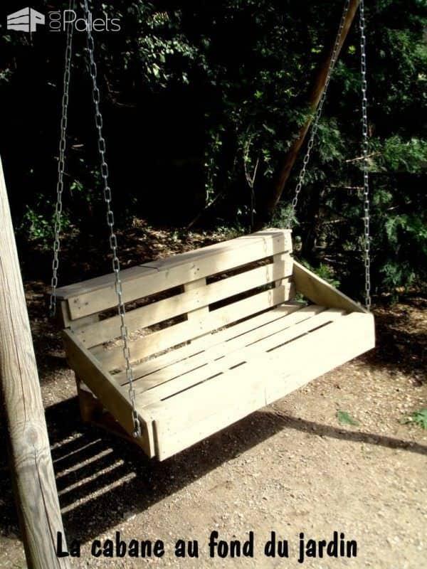 Une Balancelle Faite Avec Une Palette / Upcycled Pallet Swing Fun Pallet Crafts for Kids Lounges & Garden Sets