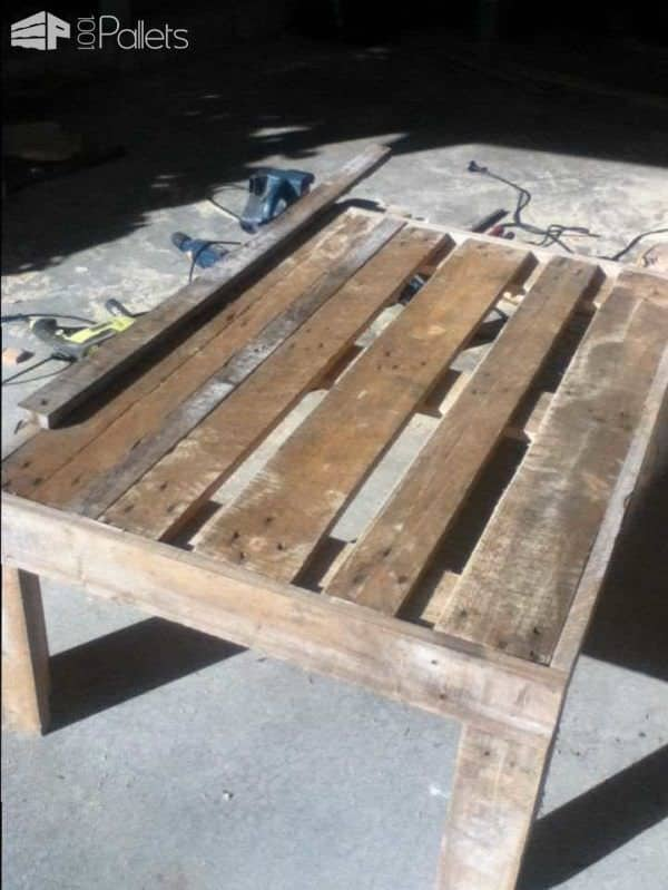 Antique Looking Pallet Coffee Table Pallet Coffee Tables