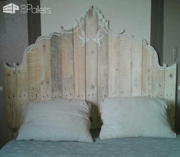 Mes Têtes De Lit En Palettes / My Pallet Bed Headboards Pallet Beds, Pallet Headboards & Frames